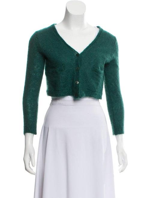 Samuji Mohair V-Neck Sweater Green