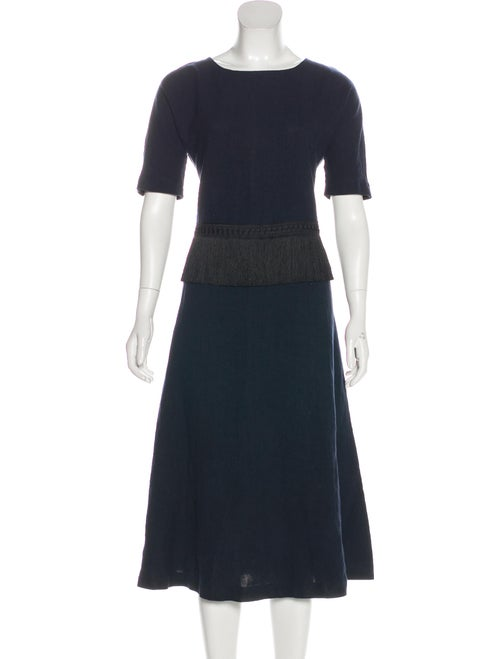 Samuji Linen Midi Length Dress Black