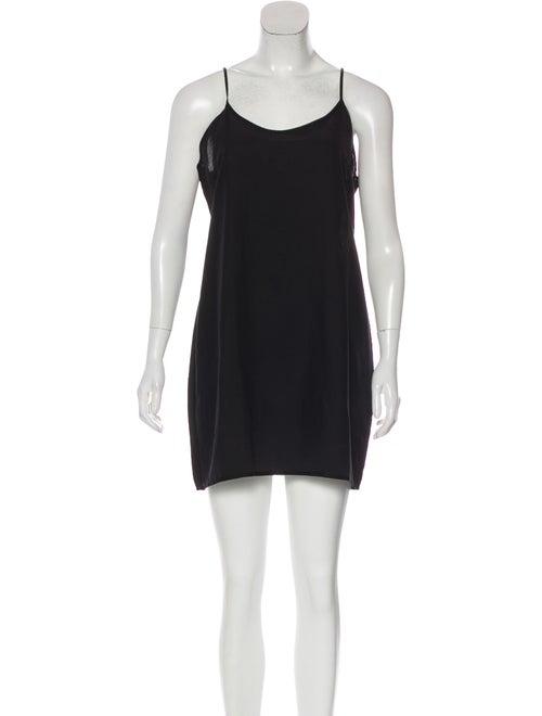 Samuji Scoop Neck Mini Dress Black
