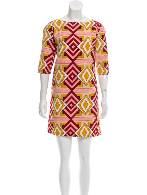 Samuji Printed Mini Dress Pink