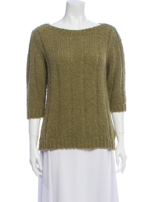Samuji Alpaca Bateau Neckline Sweater Green