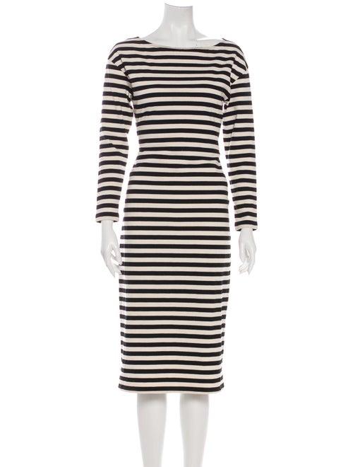 Samuji Striped Midi Length Dress