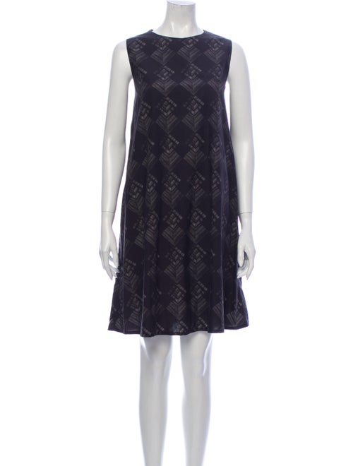 Samuji Crew Neck Knee-Length Dress Black