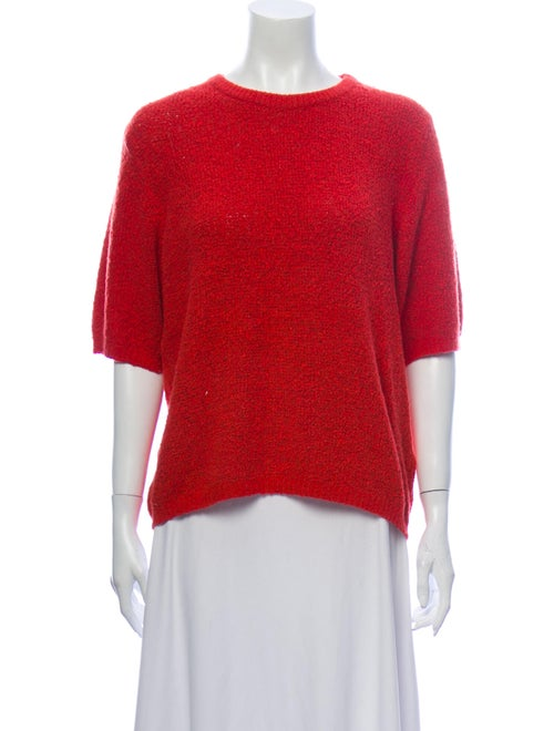 Samuji Crew Neck Sweater Orange