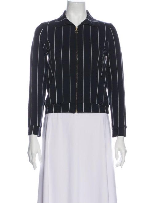 Samuji Striped Evening Jacket Blue