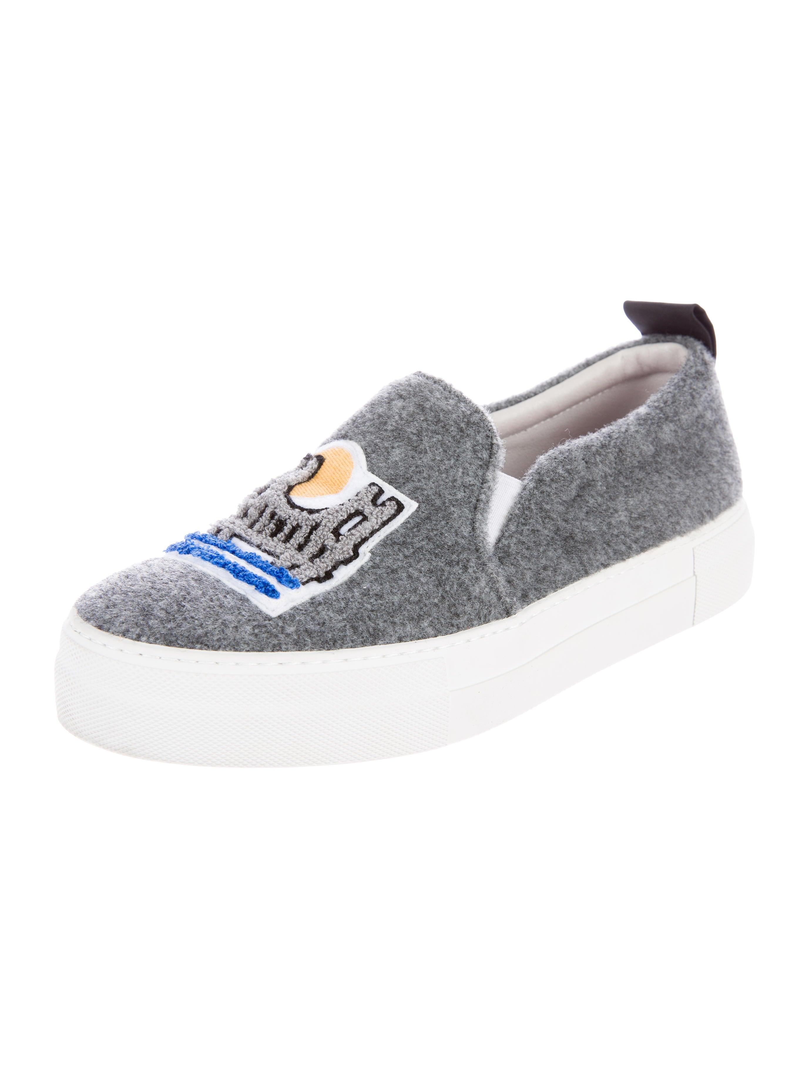 Joshua Sanders Slip-On Platform Sneakers - Shoes - WSNDR20028 | The RealReal
