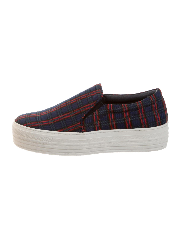 joshua sanders plaid slip on sneakers w tags shoes
