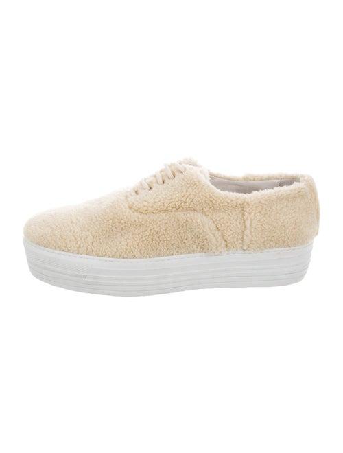 Joshua Sanders Shearling Platform Sneakers