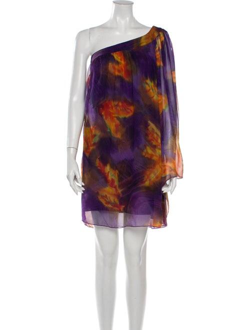 Single Dress Silk Mini Dress Purple