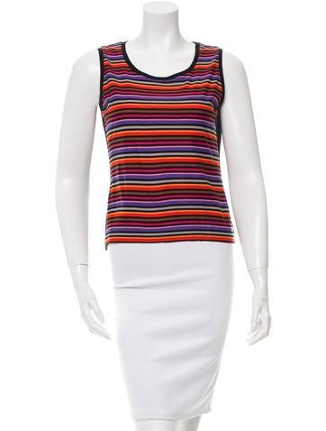 Sonia by Sonia Rykiel Sleeveless Stripe Top None