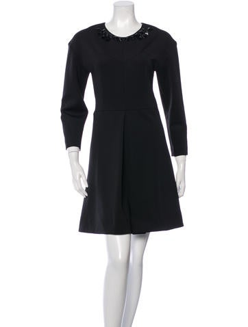 Sonia by Sonia Rykiel Jersey Embellished Flare Dress None