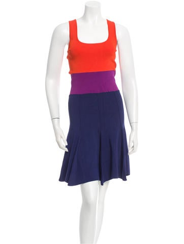 Sonia by Sonia Rykiel Ribbed Colorblock Dress None