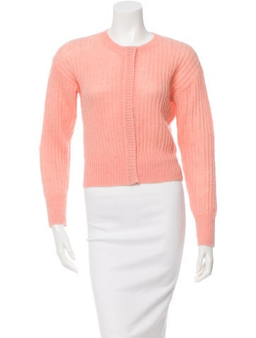 Sonia by Sonia Rykiel Cropped Rib Knit Cardigan None