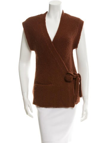 Sonia by Sonia Rykiel Rib Knit Wrap Cardigan None