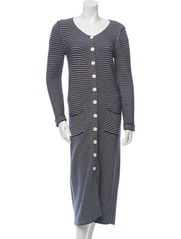 Sonia by Sonia Rykiel Striped Knit Cardigan None