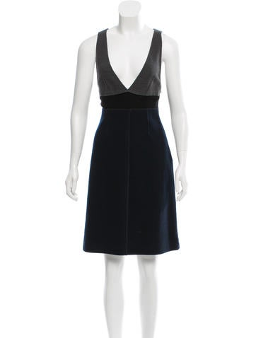 Sonia by Sonia Rykiel Wool-Blend Sleeveless Dress None