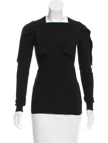Sonia by Sonia Rykiel Overlay Rib Knit Sweater None