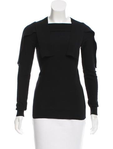 Sonia by Sonia Rykiel Overlay Rib Knit Sweater None