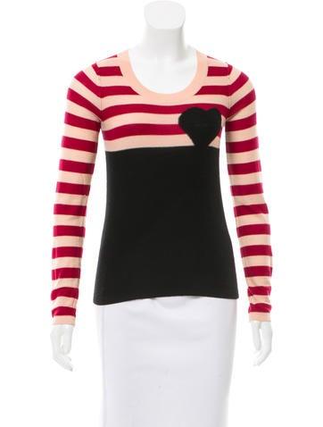 Sonia by Sonia Rykiel Wool Intarsia Sweater None