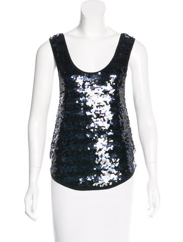Sonia by Sonia Rykiel Sleeveless Sequin Top None