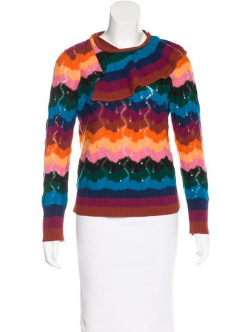 Sonia by Sonia Rykiel Colorblock Knit Sweater None
