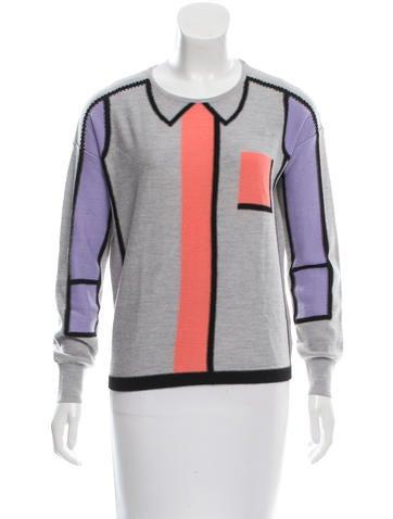 Sonia by Sonia Rykiel Wool Colorblock Sweater None