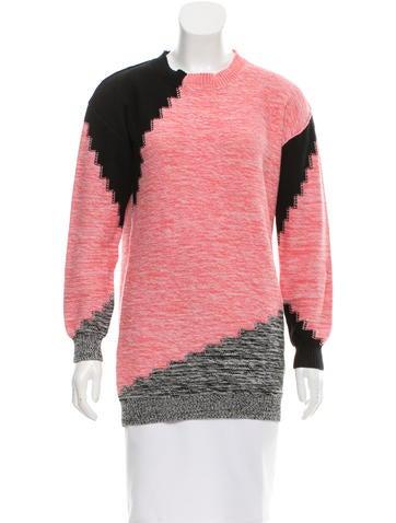 Sonia by Sonia Rykiel Colorblock Crew Neck Sweater None
