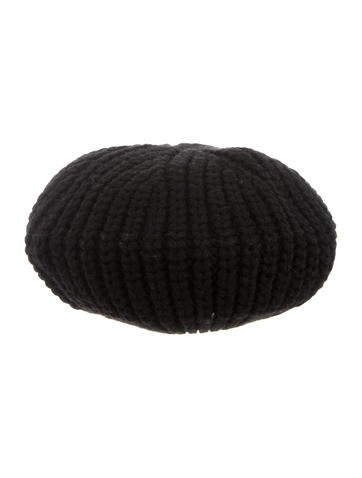 Sonia by Sonia Rykiel Black Rib Knit Beanie None