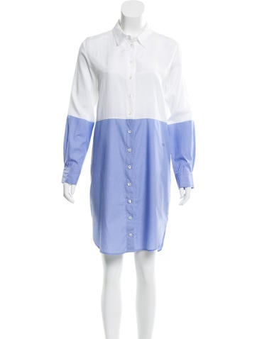 Sonia by Sonia Rykiel Colorblock Long Sleeve Dress None