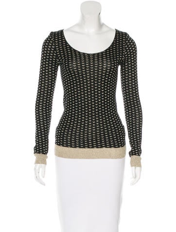Sonia by Sonia Rykiel Patterned Knit Top None