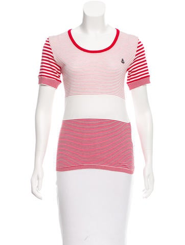 Sonia by Sonia Rykiel Striped Short Sleeve Top None