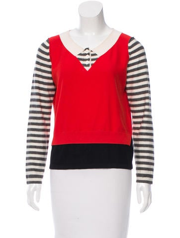 Sonia by Sonia Rykiel Long Sleeve Striped Sweater None