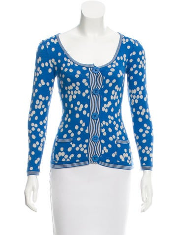 Sonia by Sonia Rykiel Wool Polka Dot Cardigan None