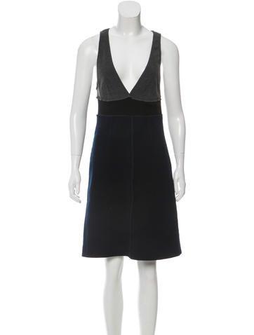 Sonia by Sonia Rykiel Wool Colorblock Dress None