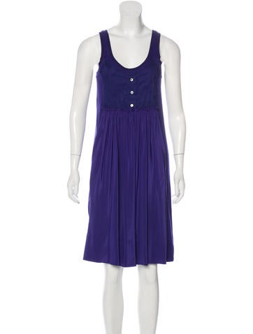 Sonia by Sonia Rykiel Pleated Embroidered Dress None