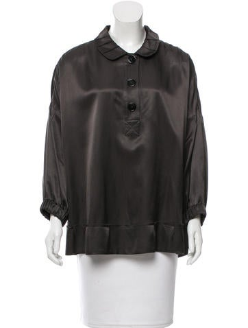 Sonia by Sonia Rykiel Long Sleeve Collar Top None
