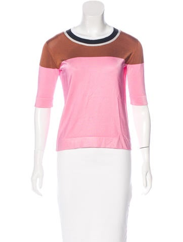 Sonia by Sonia Rykiel Colorblock Knit Top None