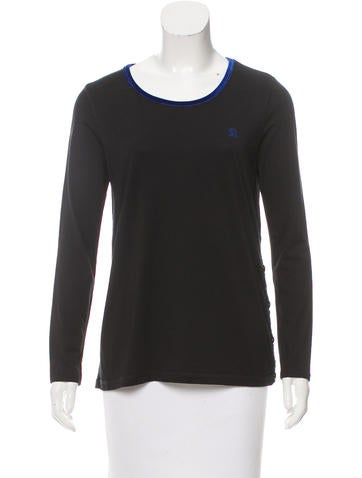 Sonia by Sonia Rykiel Long Sleeve Crew Neck Top None