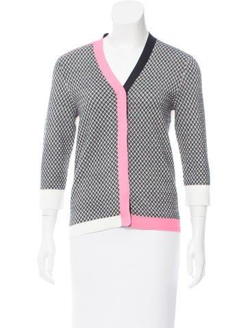 Sonia by Sonia Rykiel Contrast Knit Cardigan w/ Tags None