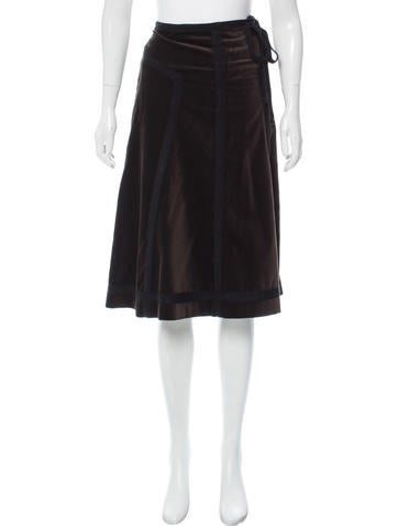 Sonia by Sonia Rykiel Velvet Knee-Length Skirt None