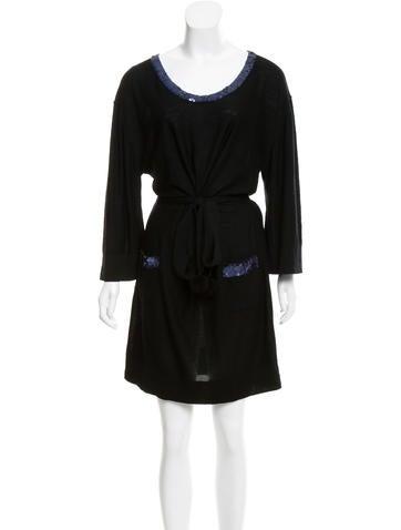 Sonia by Sonia Rykiel Embellished Wool Dress None
