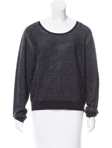 Sonia by Sonia Rykiel Embellished Wool Sweater w/ Tags None