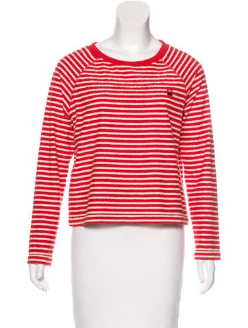 Sonia by Sonia Rykiel Striped Terry Cloth Sweatshirt None