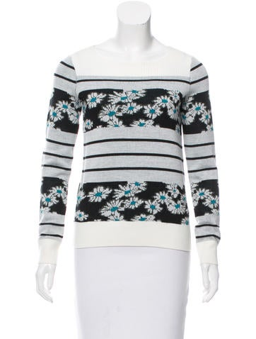 Sonia by Sonia Rykiel Wool-Blend Jacquard Top None