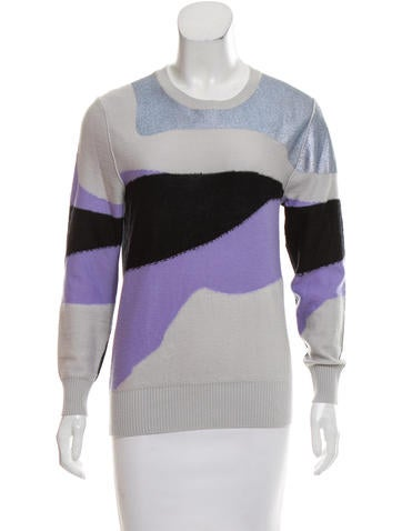 Sonia by Sonia Rykiel Wool Abstract Pattern Sweater None