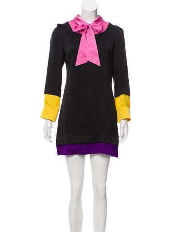 Sonia by Sonia Rykiel Silk Colorblock Dress None