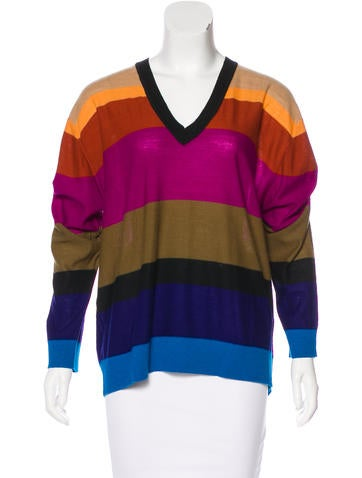 Sonia by Sonia Rykiel Striped Long Sleeve Sweater None