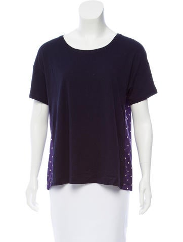 Sonia by Sonia Rykiel Contrasted Short Sleeve Top w/ Tags None