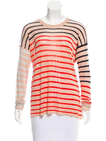 Sonia by Sonia Rykiel Knit Striped Top None