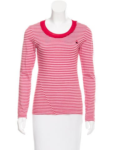 Sonia by Sonia Rykiel Striped Long- Sleeve Top None